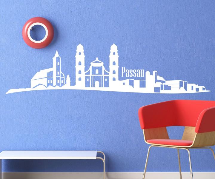 wandtattoo skyline xxl passau wand aufkleber tattoo deutschland stadt 1m154 wandtattoos skylines. Black Bedroom Furniture Sets. Home Design Ideas