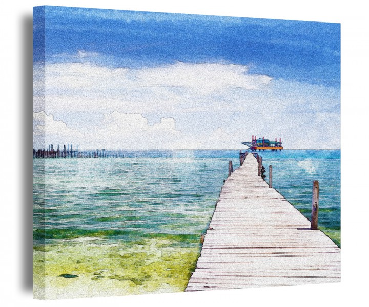 Steg ostsee leinwand see meer sonne bilder gem lde wandbild aufgespannt 9a143 leinwandbild - Ostsee bilder auf leinwand ...