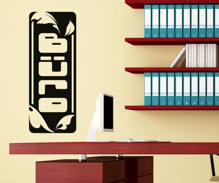 wandtattoo b ro arbeitszimmer text wand sticker aufkleber. Black Bedroom Furniture Sets. Home Design Ideas