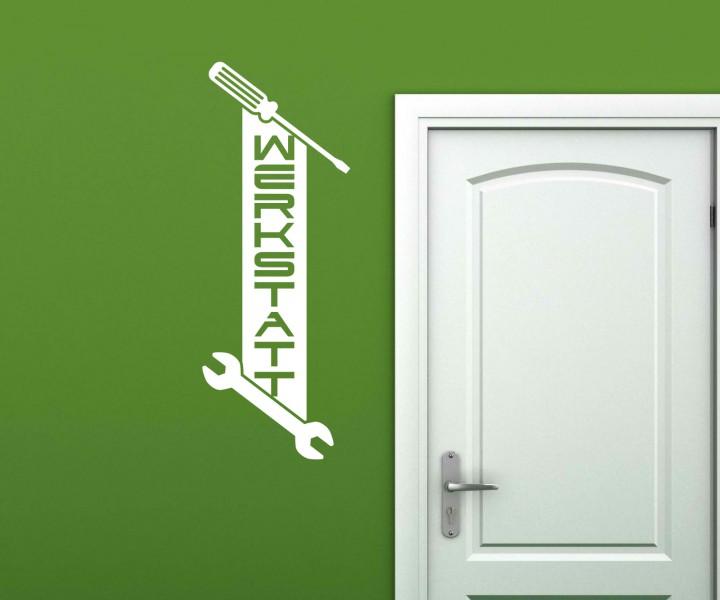 wandtattoo werkstatt arbeitszimmer spruch wand sticker. Black Bedroom Furniture Sets. Home Design Ideas