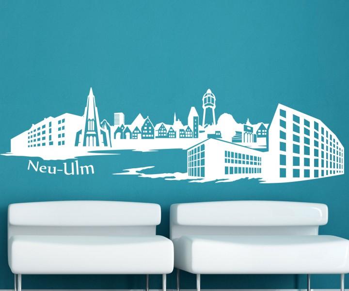 wandtattoo skyline xxl neu ulm wand aufkleber tattoo. Black Bedroom Furniture Sets. Home Design Ideas