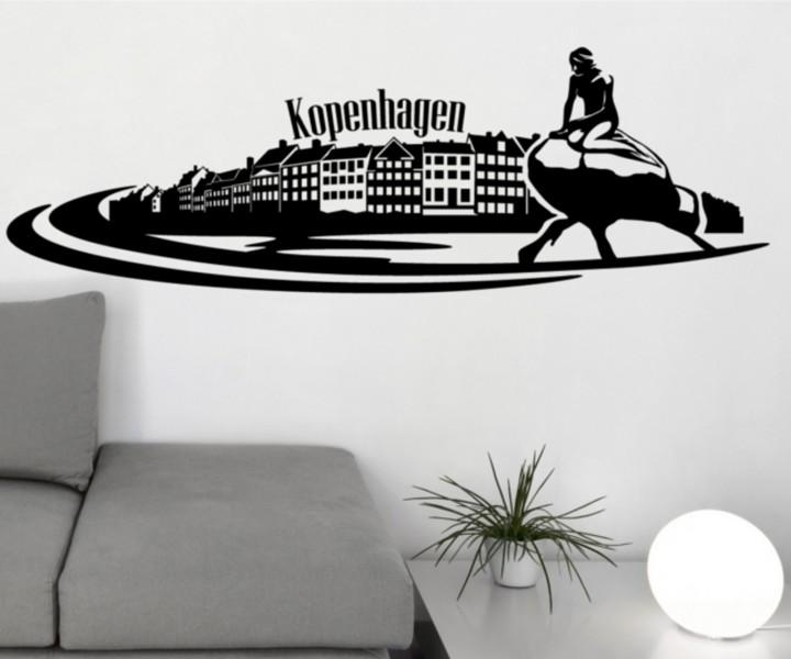 wandtattoo skyline xxl kopenhagen hauptstadt d nemark aufkleber wand stadt 1m144 wandtattoos. Black Bedroom Furniture Sets. Home Design Ideas