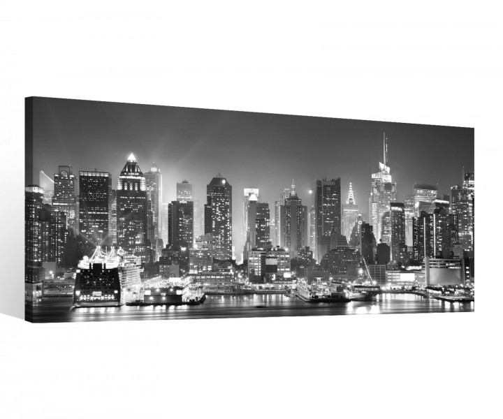 leinwand 1 tlg new york schwarz wei skyline stadt usa. Black Bedroom Furniture Sets. Home Design Ideas