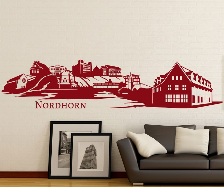 wandtattoo nordhorn skyline xxl aufkleber wandsticker. Black Bedroom Furniture Sets. Home Design Ideas