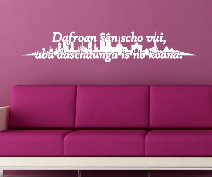 wandtattoo bayrisches sprichwort bayern spruch aufkleber skyline m nchen 5d013 wandtattoos. Black Bedroom Furniture Sets. Home Design Ideas