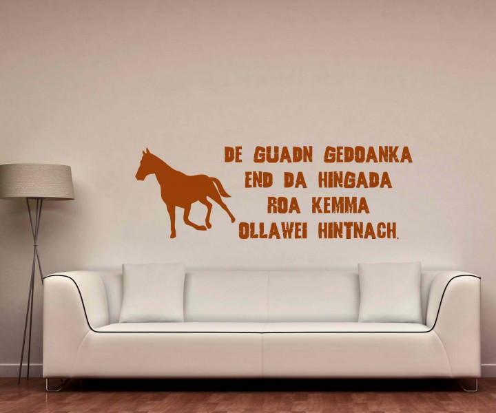 wandtattoo bayerisch weisheit bayern schriftzug aufkleber spruch pferd 5d020 wandtattoos spr che. Black Bedroom Furniture Sets. Home Design Ideas