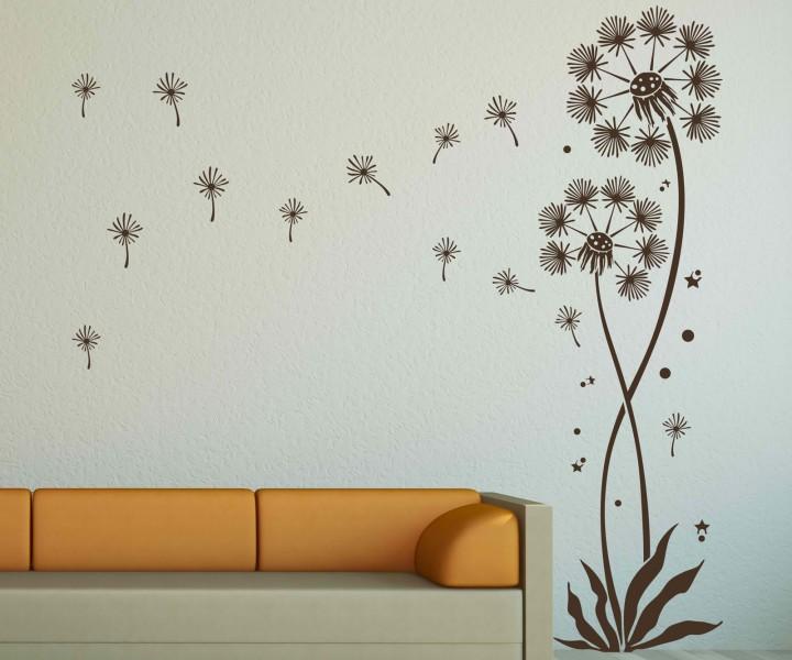 wandtattoo pusteblume set blume flugsamen pollenflug l wenzahn aufkleber 5e092 wandtattoos. Black Bedroom Furniture Sets. Home Design Ideas