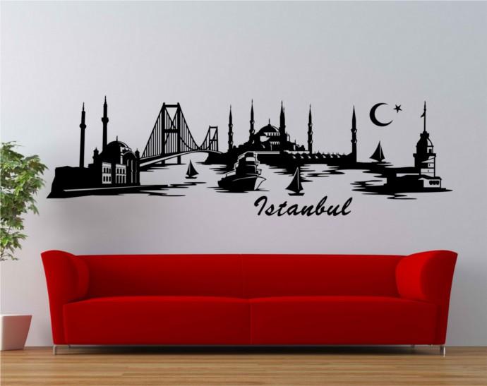 Bilder Wohnzimmer Xxl Wandtattoo Istanbul Skyline Trkei Wand Aufkleber