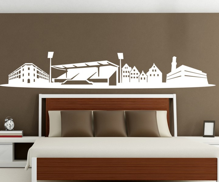 wandtattoo skyline f rth skyline fu ball stadion stadt. Black Bedroom Furniture Sets. Home Design Ideas
