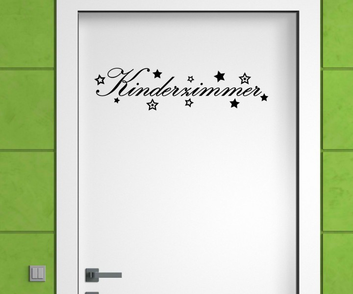 t raufkleber kinderzimmer t r anschrift deko sticker. Black Bedroom Furniture Sets. Home Design Ideas
