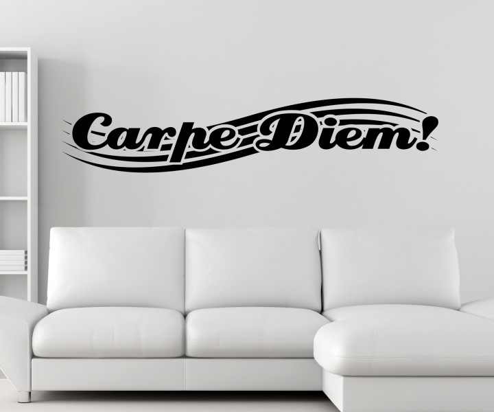 wandtattoo carpe diem spruch spr che text sticker aufkleber wandaufkleber 1d046 wandtattoos. Black Bedroom Furniture Sets. Home Design Ideas