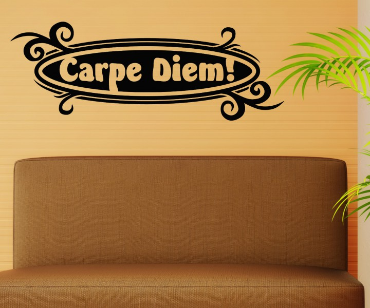 wandtattoo carpe diem spruch n tze den tag sticker. Black Bedroom Furniture Sets. Home Design Ideas