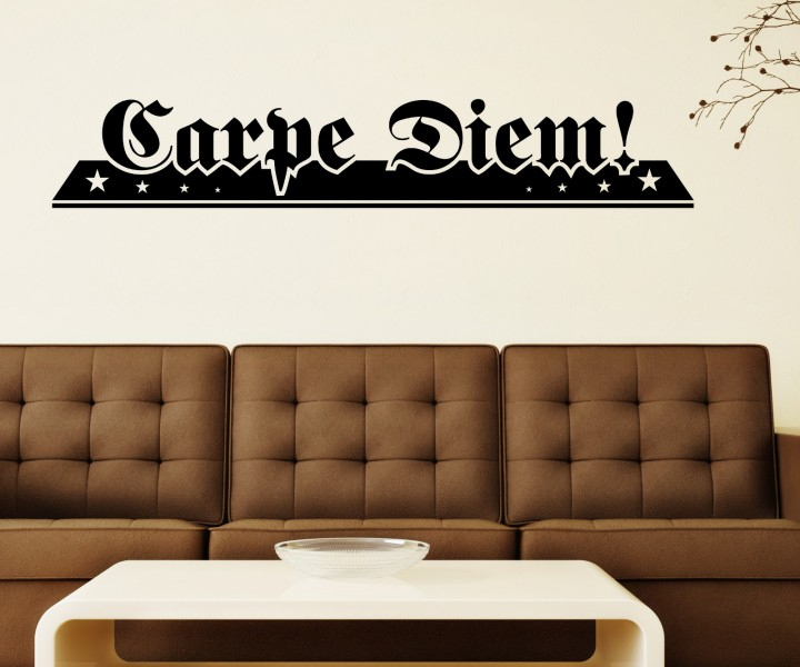 wandtattoo carpe diem spr che nutze tag wand deko sticker aufkleber text 1d066 wandtattoos. Black Bedroom Furniture Sets. Home Design Ideas