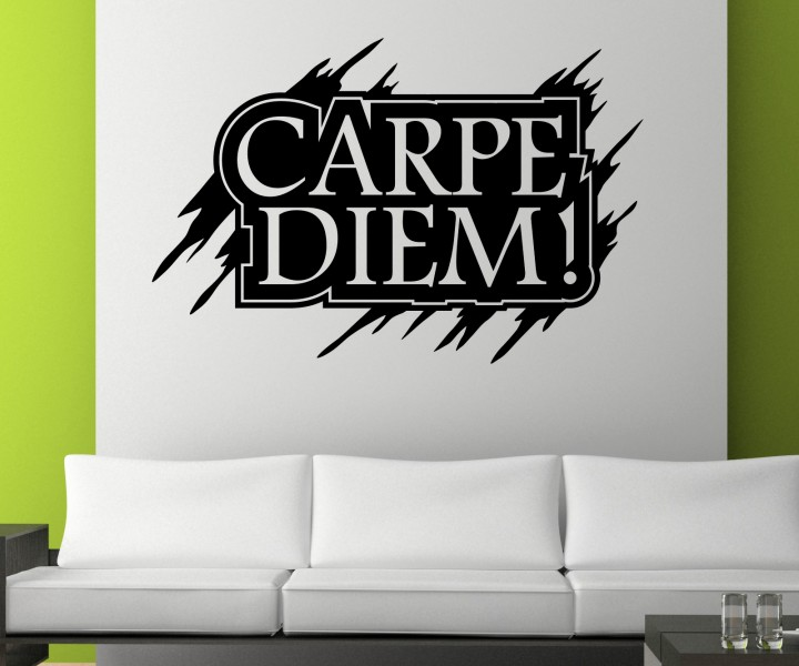 wandtattoo carpe diem nutze den tag wand spruch sticker aufkleber zitat 1d069 wandtattoos. Black Bedroom Furniture Sets. Home Design Ideas