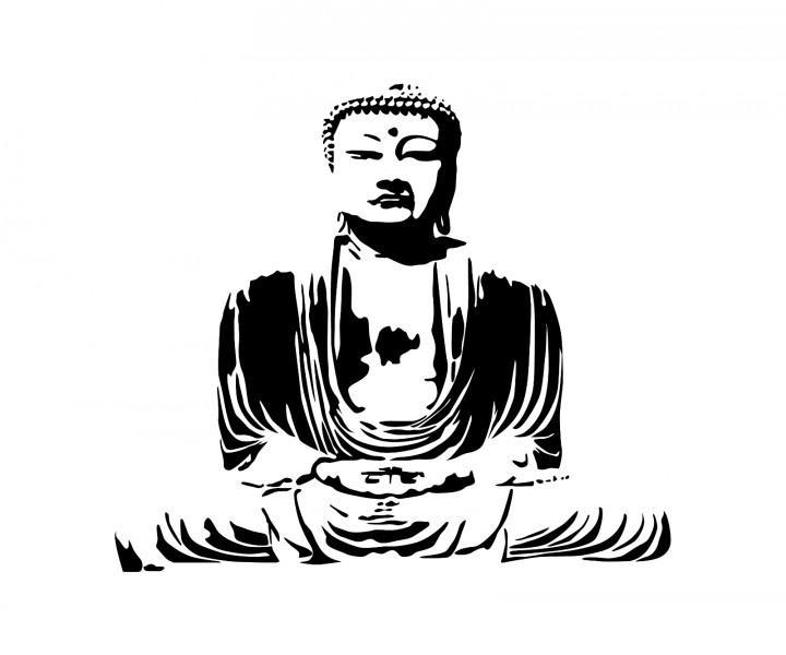 buddha wandtattoo buddhismus aufkleber glaube wand sticker spirituell 1t031 wandtattoos. Black Bedroom Furniture Sets. Home Design Ideas