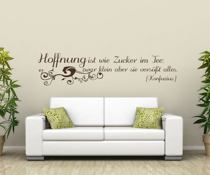 wandtattoo spruch hoffnung wandsticker zitate konfuzius. Black Bedroom Furniture Sets. Home Design Ideas