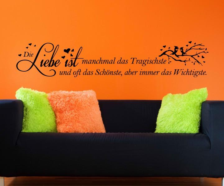 wandtattoo spruch liebe ist wichtigste wandsticker zitate zitat weisheit 5d460 wandtattoos. Black Bedroom Furniture Sets. Home Design Ideas