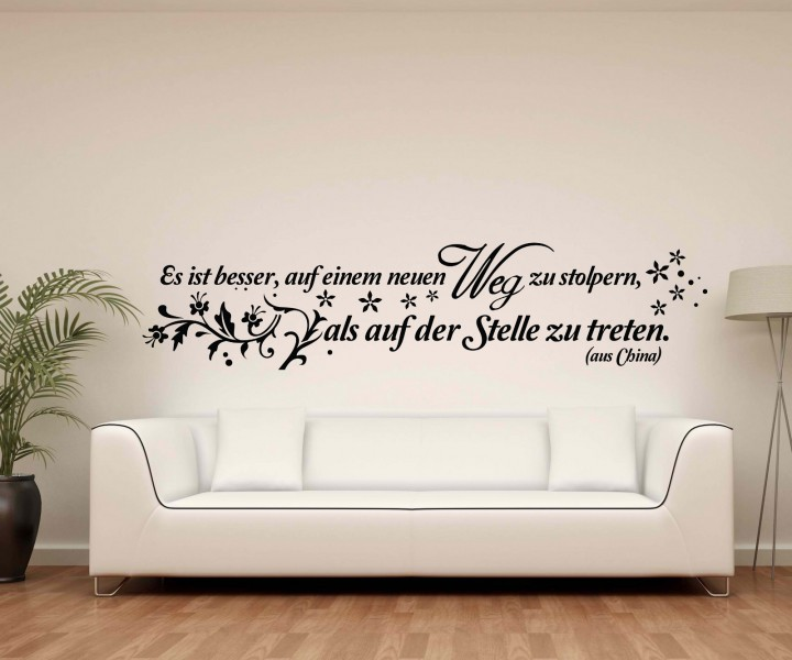 wandtattoo spruch auf neuem weg stolpern wandsticker zitate zitat weisheit 5d494 wandtattoos. Black Bedroom Furniture Sets. Home Design Ideas