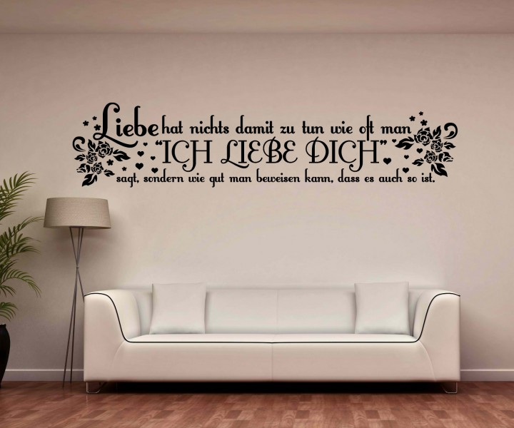 wandtattoo spruch liebe beweisen wandsticker zitate tattoo. Black Bedroom Furniture Sets. Home Design Ideas