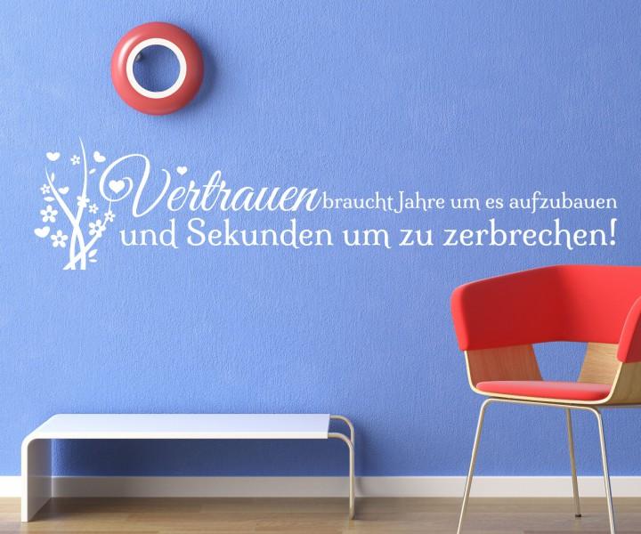 wandtattoo spruch vertrauen wand deko wandsticker zitate zitat weisheit 5d503 wandtattoos. Black Bedroom Furniture Sets. Home Design Ideas