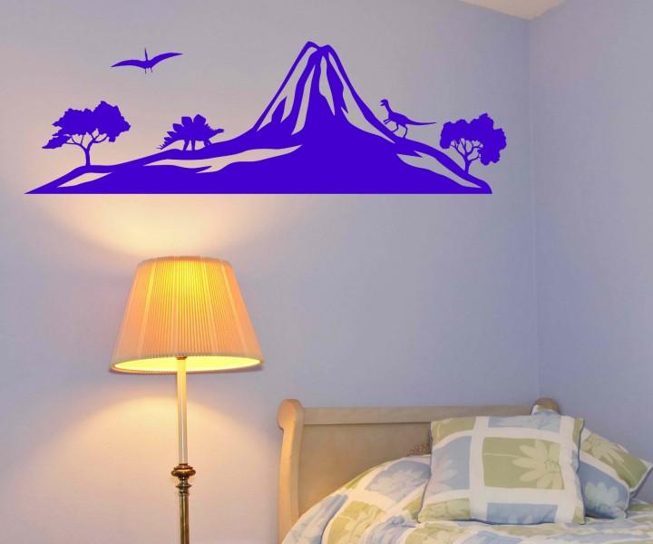 wandtattoo dinosaurier skyline berg dino wand sticker aufkleber wandbild 1m557 wandtattoos. Black Bedroom Furniture Sets. Home Design Ideas