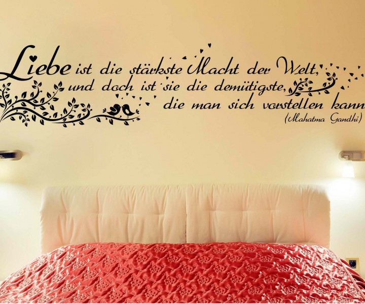 wandtattoo spruch liebe ist macht wandsticker zitate tattoo zitat weisheit 5d406 wandtattoos. Black Bedroom Furniture Sets. Home Design Ideas
