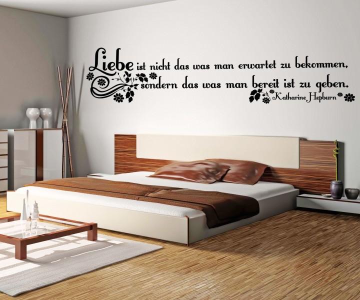 wandtattoo spruch liebe wandsticker zitate tattoo zitat weisheit hepburn 5d420 wandtattoos. Black Bedroom Furniture Sets. Home Design Ideas