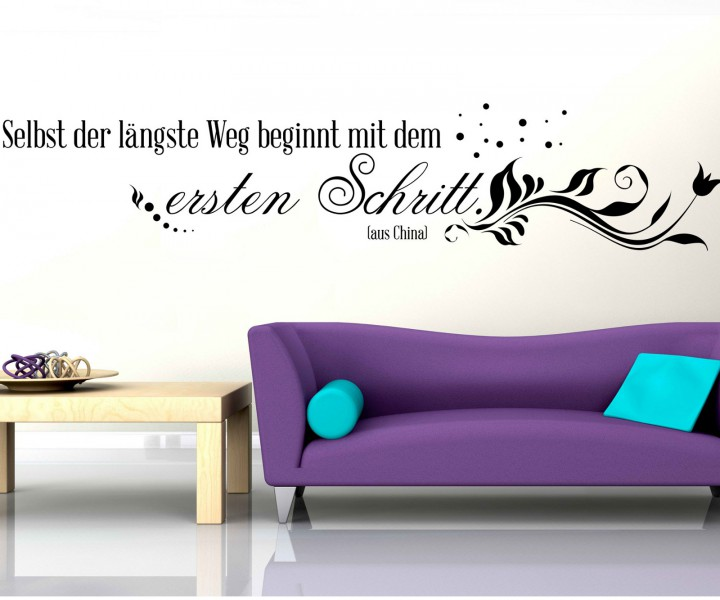 wandtattoo spruch erste schritt wandsticker zitate zitat weisheit china 5d431 wandtattoos. Black Bedroom Furniture Sets. Home Design Ideas