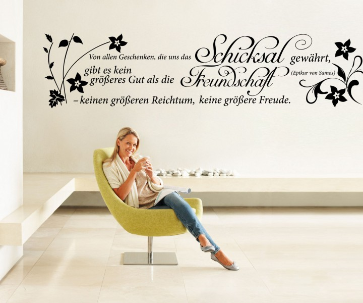 wandtattoo spruch freundschaft wandsticker zitate tattoo zitat weisheit 5d432 wandtattoos. Black Bedroom Furniture Sets. Home Design Ideas