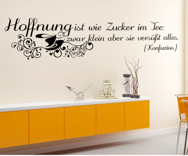wandtattoo spruch hoffnung blume spr che aufkleber zitate. Black Bedroom Furniture Sets. Home Design Ideas
