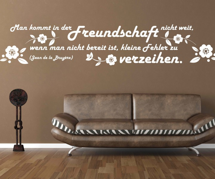 wandtattoo spruch freundschaft wandsticker zitate zitat weisheit bruyere 5d445 wandtattoos. Black Bedroom Furniture Sets. Home Design Ideas
