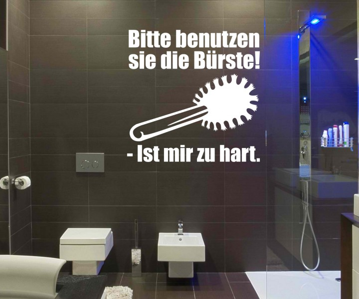 toiletten spruch aufkleber wandtattoo badezimmer wc bad deko sticker 1k001 wandtattoos. Black Bedroom Furniture Sets. Home Design Ideas