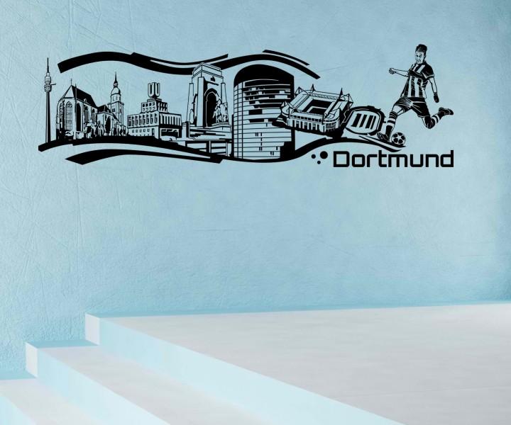 Wandtattoo dortmund stadt deutschland skyline wand aufkleber wandbild 1m623 wandtattoos skylines - Wandtattoo dortmund ...