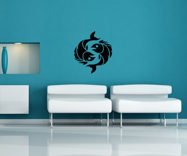 wandtattoo fische sternzeichen sternbild sticker tattoo wandbild aufkleber 5q453 wandtattoos. Black Bedroom Furniture Sets. Home Design Ideas