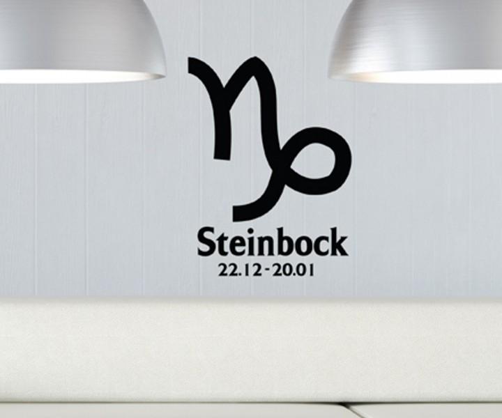 wandtattoo sternzeichen steinbock text sticker tattoo wandbild aufkleber 5q500 wandtattoos liebe. Black Bedroom Furniture Sets. Home Design Ideas