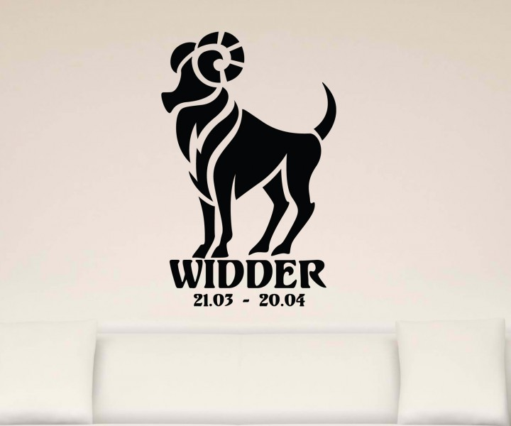 wandtattoo sternzeichen widder text sticker tattoo. Black Bedroom Furniture Sets. Home Design Ideas
