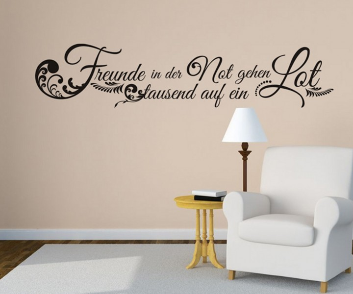 wandtattoo spruch freunde not deko spr che tattoo. Black Bedroom Furniture Sets. Home Design Ideas