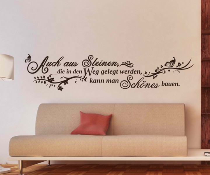 wandtattoo spruch weg blumenranke spr che tattoo aufkleber. Black Bedroom Furniture Sets. Home Design Ideas
