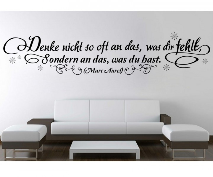 wandtattoo spruch aurel blumenranke spr che sticker. Black Bedroom Furniture Sets. Home Design Ideas