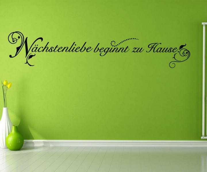 wandtattoo spruch liebe blume spr che tattoo aufkleber. Black Bedroom Furniture Sets. Home Design Ideas