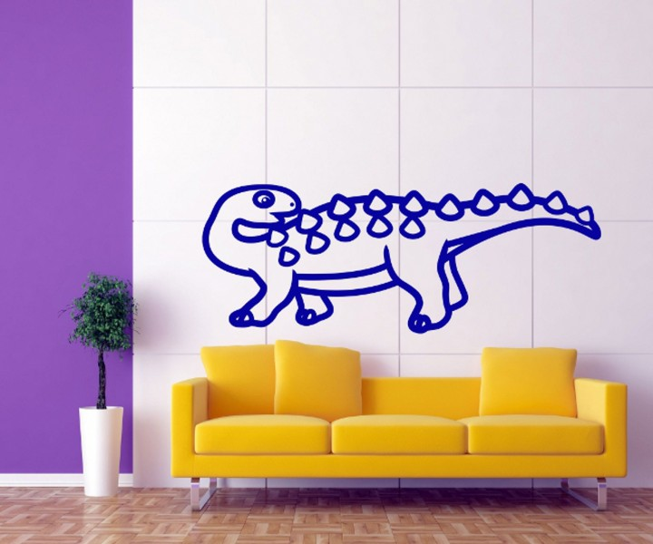 wandtattoo dino dinosaurier uhrzeit wand deko sticker. Black Bedroom Furniture Sets. Home Design Ideas
