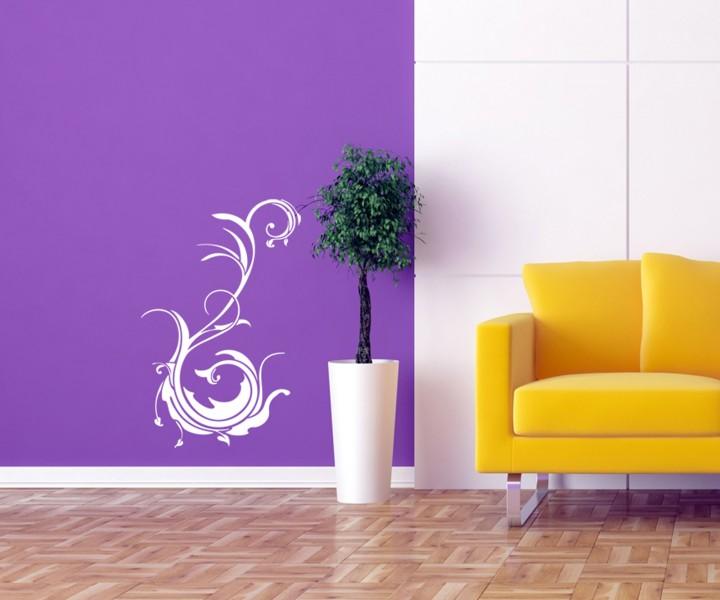wandtattoo blume pflanze ranke floral ornament tattoo sticker aufkleber 1e008 wandtattoos. Black Bedroom Furniture Sets. Home Design Ideas