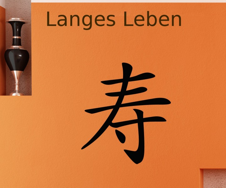 wandtattoo china zeichen langes leben hierogliphe aufkleber tattoo sticker 1f109 wandtattoos asia. Black Bedroom Furniture Sets. Home Design Ideas
