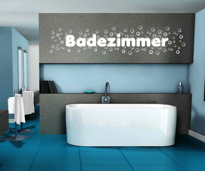 badezimmeraufkleber badezimmer text seifenblasen aufkleber sticker tattoo 1k035 wandtattoos. Black Bedroom Furniture Sets. Home Design Ideas