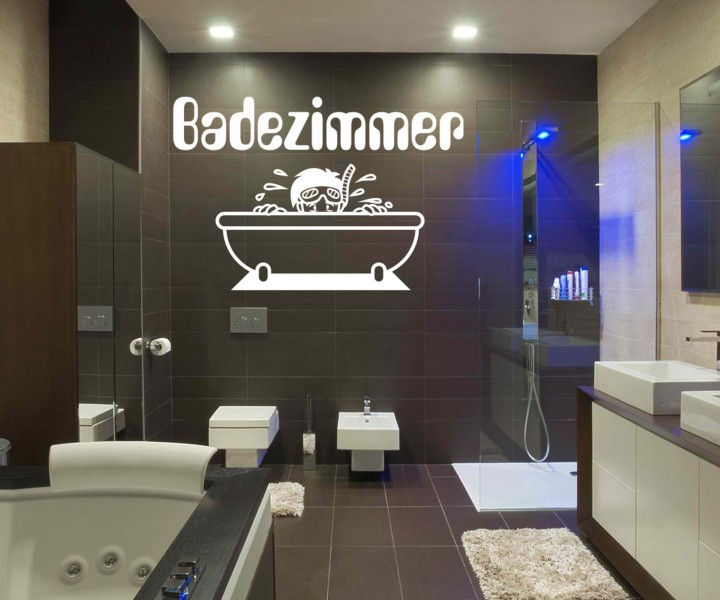 badezimmeraufkleber badezimmer bad taucher wand aufkleber sticker tattoo 1k041 wandtattoos. Black Bedroom Furniture Sets. Home Design Ideas