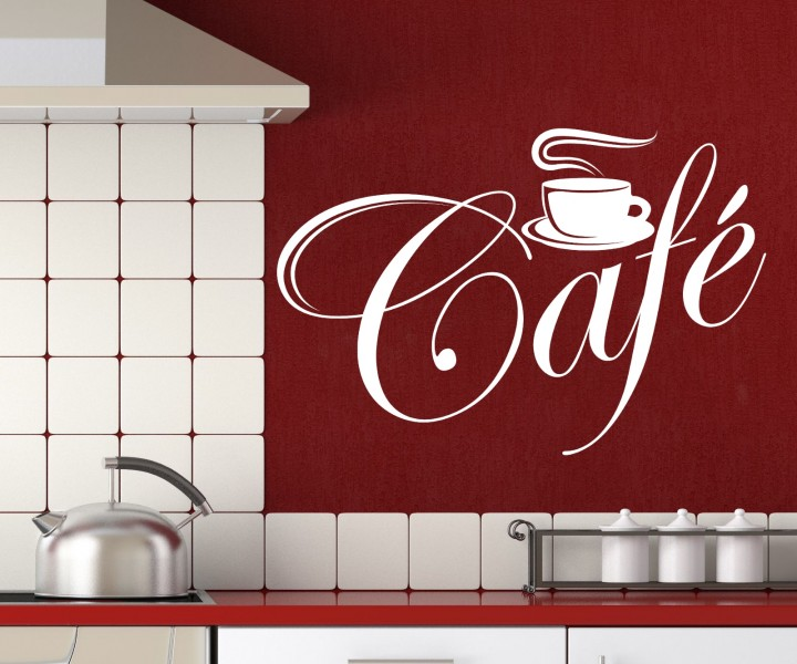 wandtattoo k che cafe tasse wand dekoration sticker wandbild aufkleber 5q541 wandtattoos k che. Black Bedroom Furniture Sets. Home Design Ideas