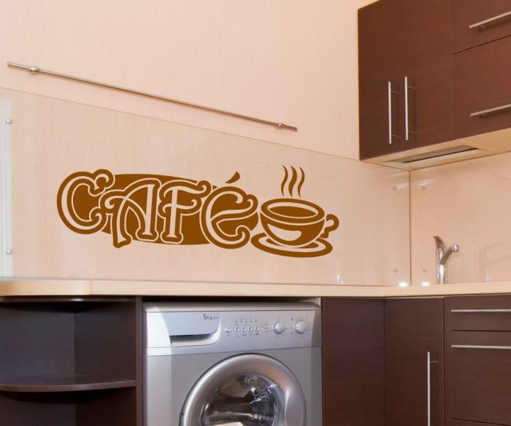 wandtattoo cafe kaffee k che dekoration tattoo sticker wandbild aufkleber 5q542 wandtattoos. Black Bedroom Furniture Sets. Home Design Ideas
