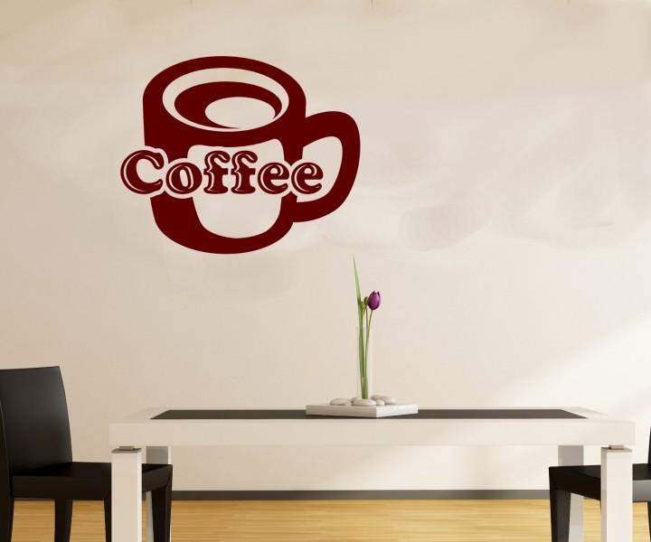wandtattoo coffee tasse k che dekoration wand sticker wandbild aufkleber 5q591 wandtattoos k che. Black Bedroom Furniture Sets. Home Design Ideas