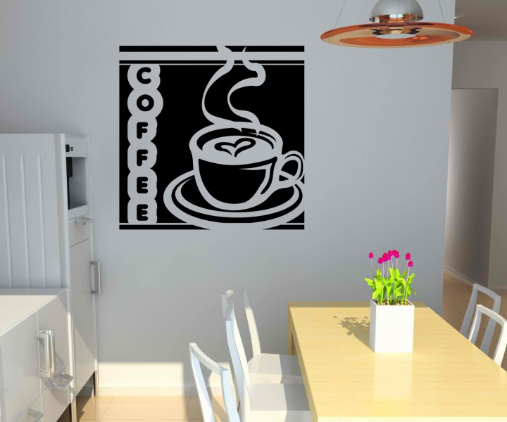 wandtattoo coffee tasse kaffee k che tattoo sticker wandbild aufkleber 5q674 wandtattoos k che. Black Bedroom Furniture Sets. Home Design Ideas