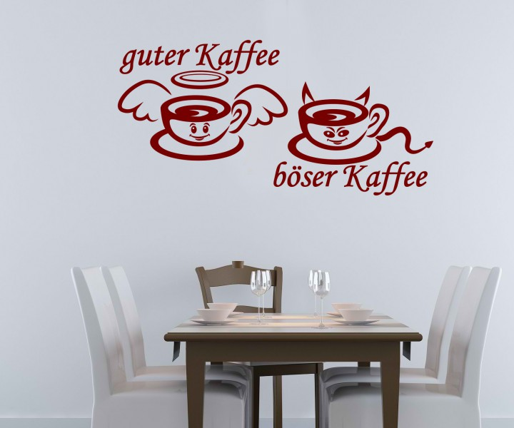 wandtattoo gute b ser kaffee k che tattoo wand sticker wandbild aufkleber 5q692 wandtattoos. Black Bedroom Furniture Sets. Home Design Ideas